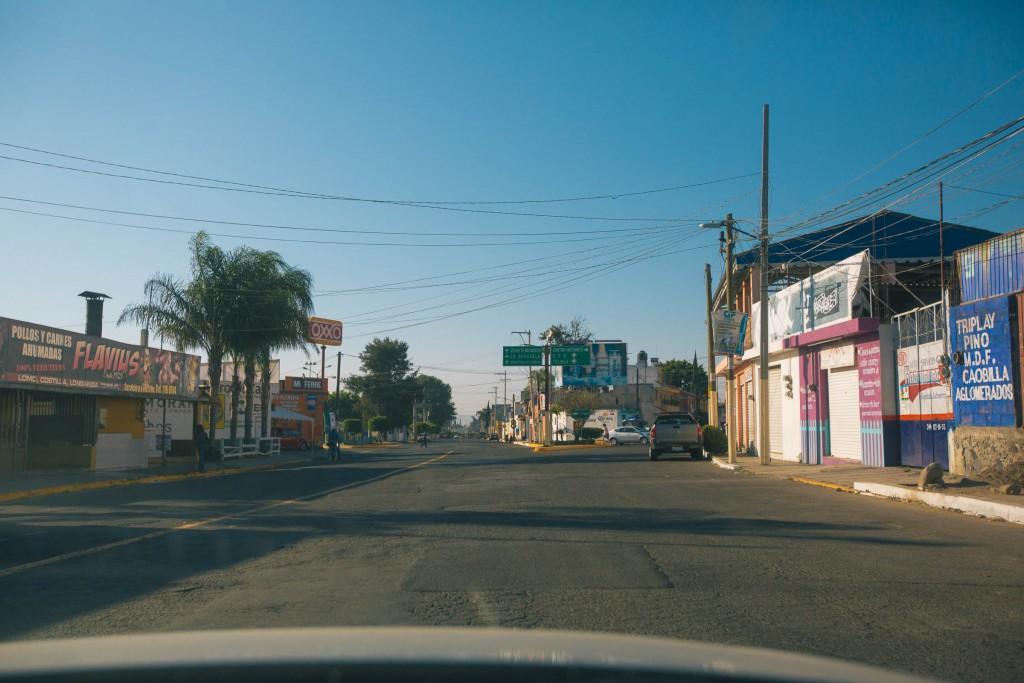 eine der besseren Straßen in dem Carré