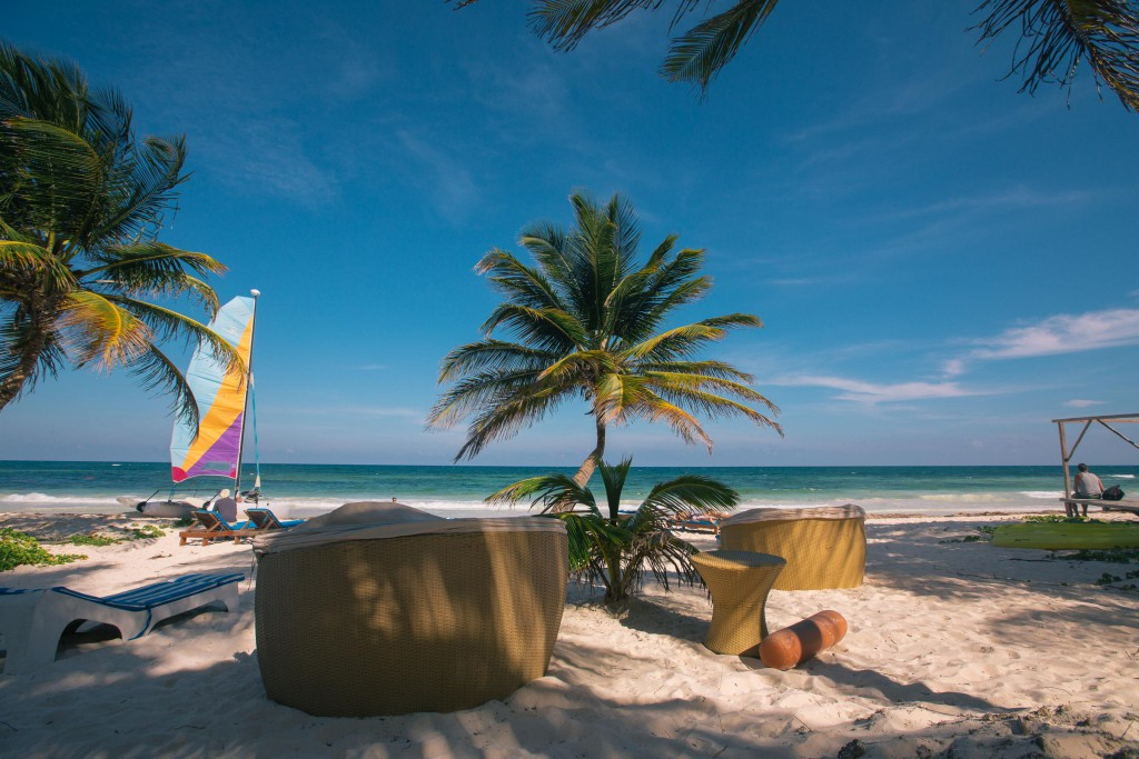 Strand vor der Playa Xcanan