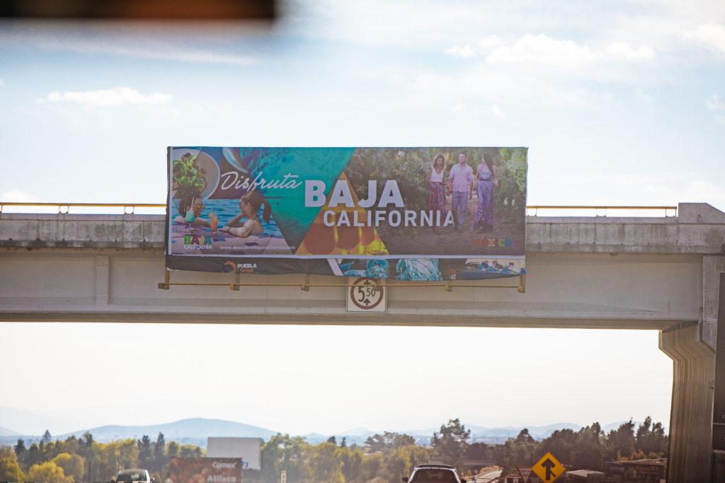Poster mit Werbung für Baja California