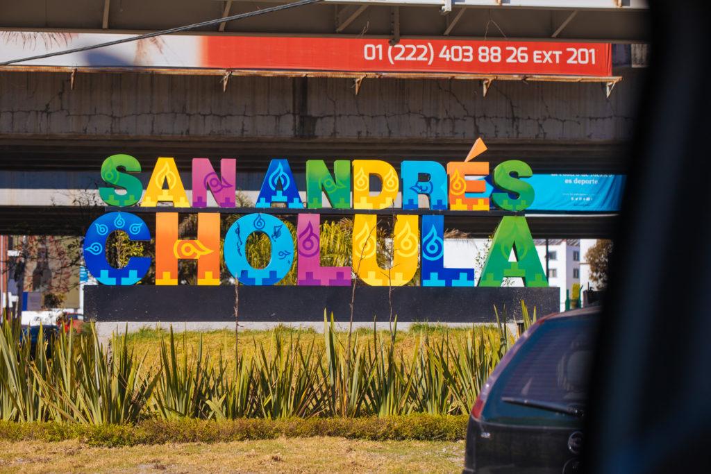 Schriftzug San Andrés Cholula