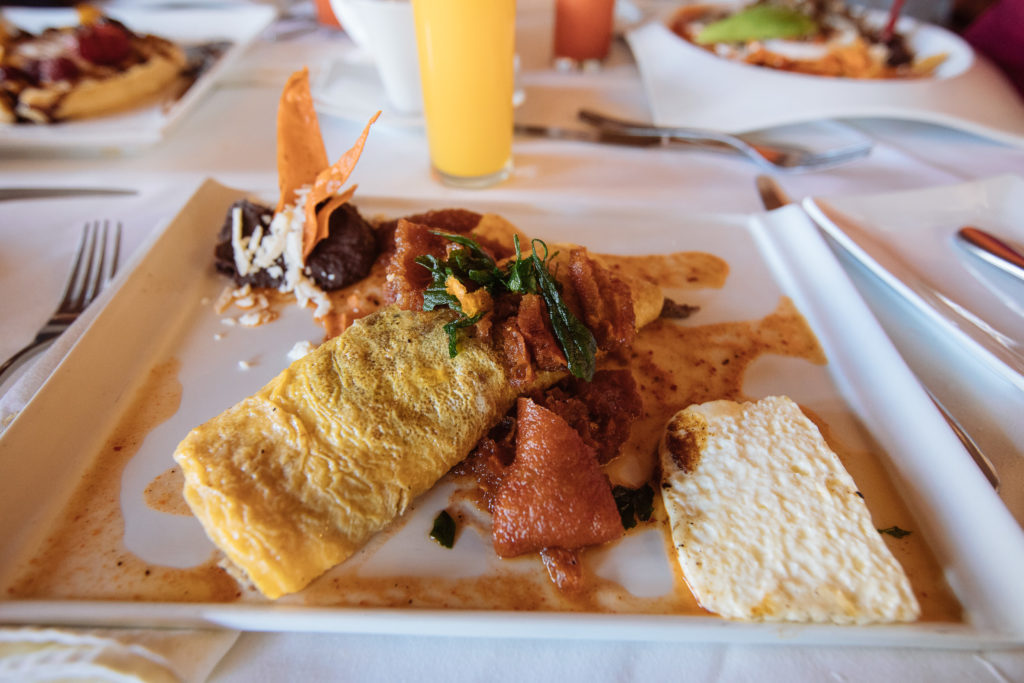 Omelett mit Huitlacoche