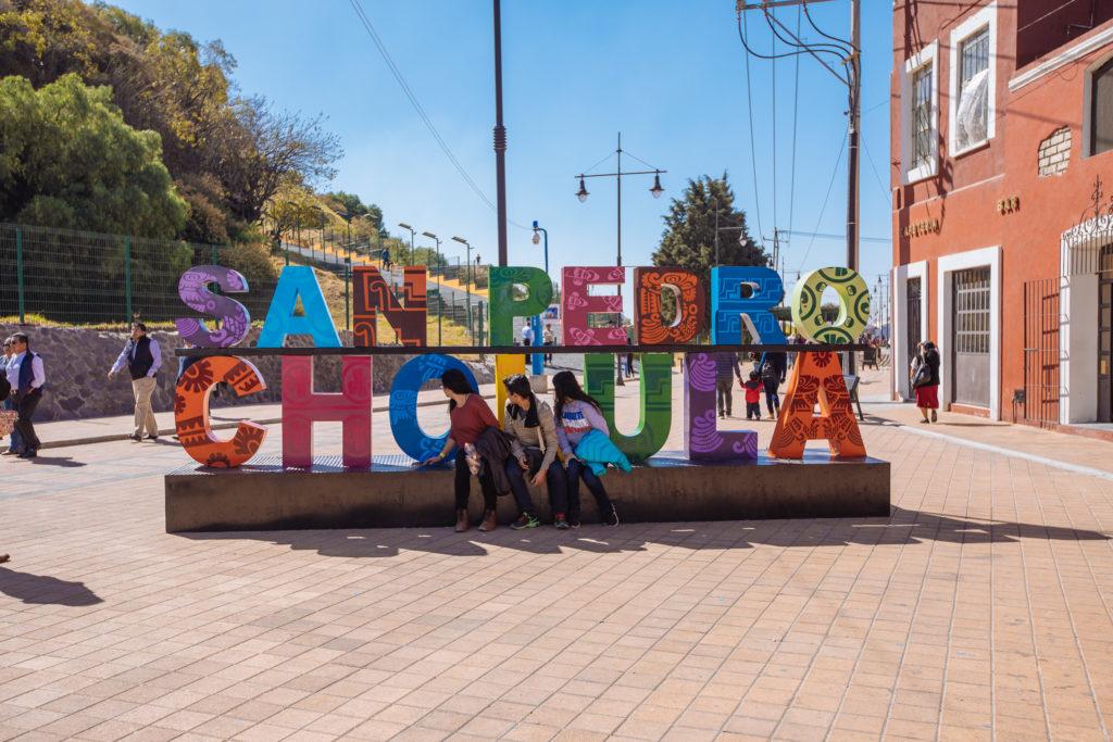 Schriftzug San Pedro Cholula