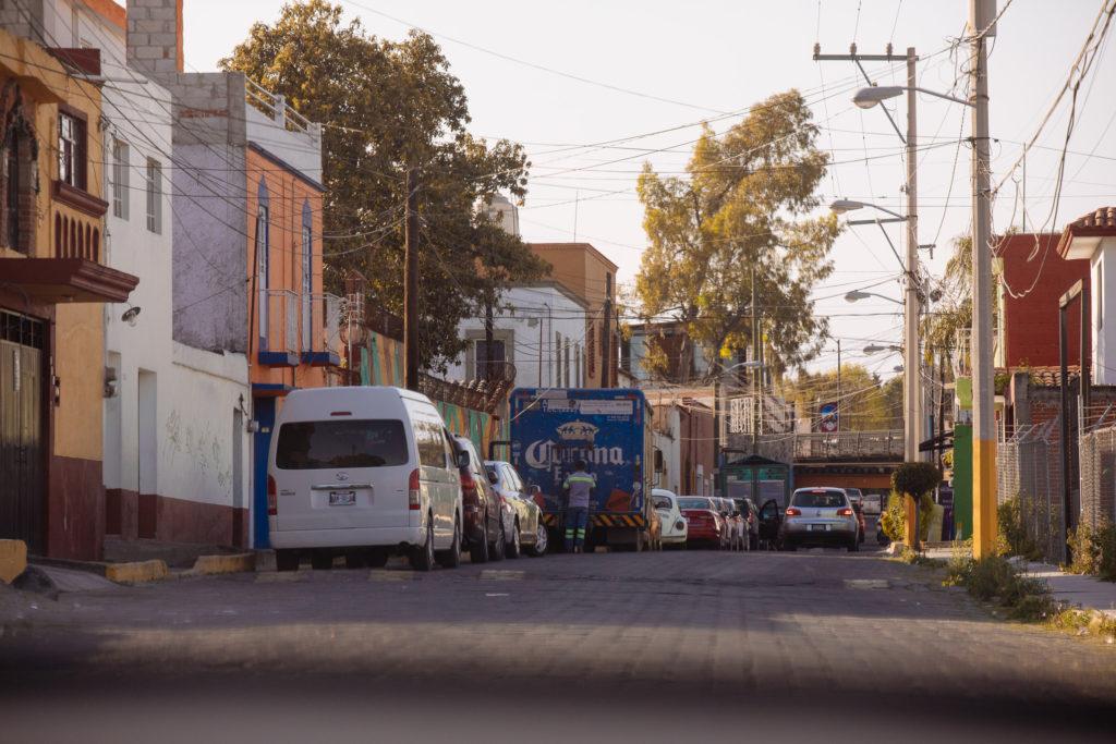 Sträßchen Richtung Av. de los Fresnos San Pedro Cholula