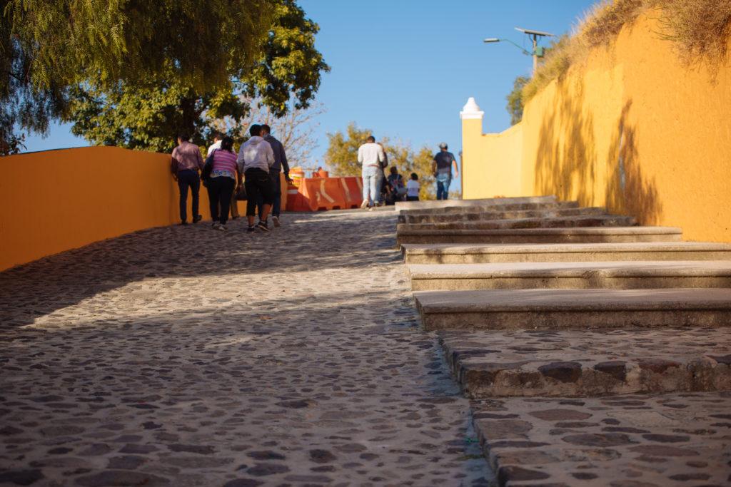 Aufstieg zur Iglesia de Nuestra Señora de los Remedios