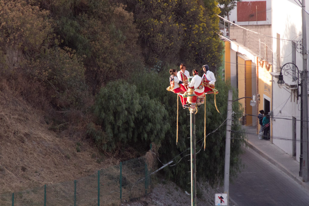 Voladores in Cholula