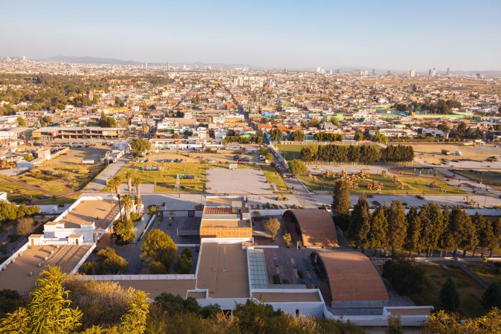 Blick von der Pyramide Cholula Richtung Puebla