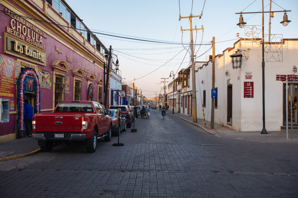 Calle 6 Norte in Cholula