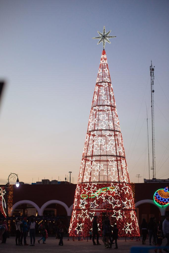 Weihnachtsbaum an der Plaza de la Concordia