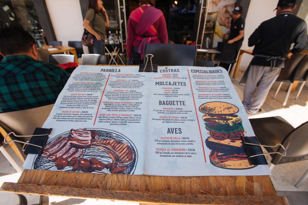 Menü von La Arrachería