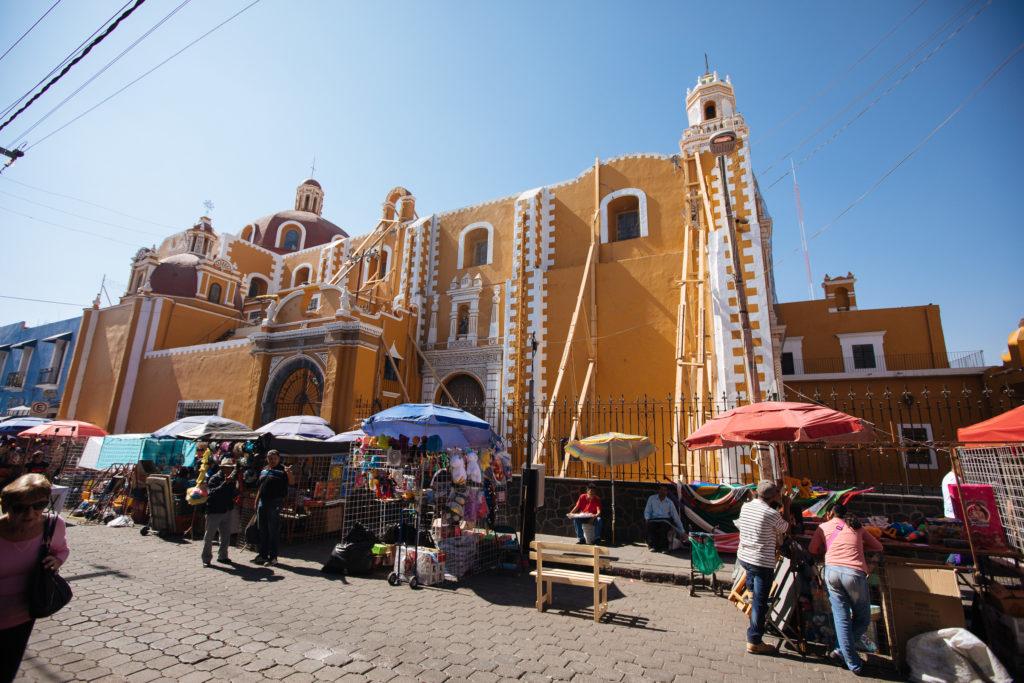 Kirche an der Av. Independencia Atlixco