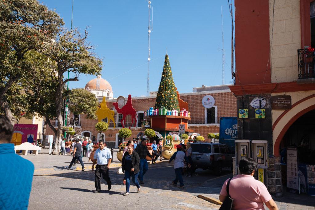 Ayuntamiento Atlixco mit Weihnachtsschmuck