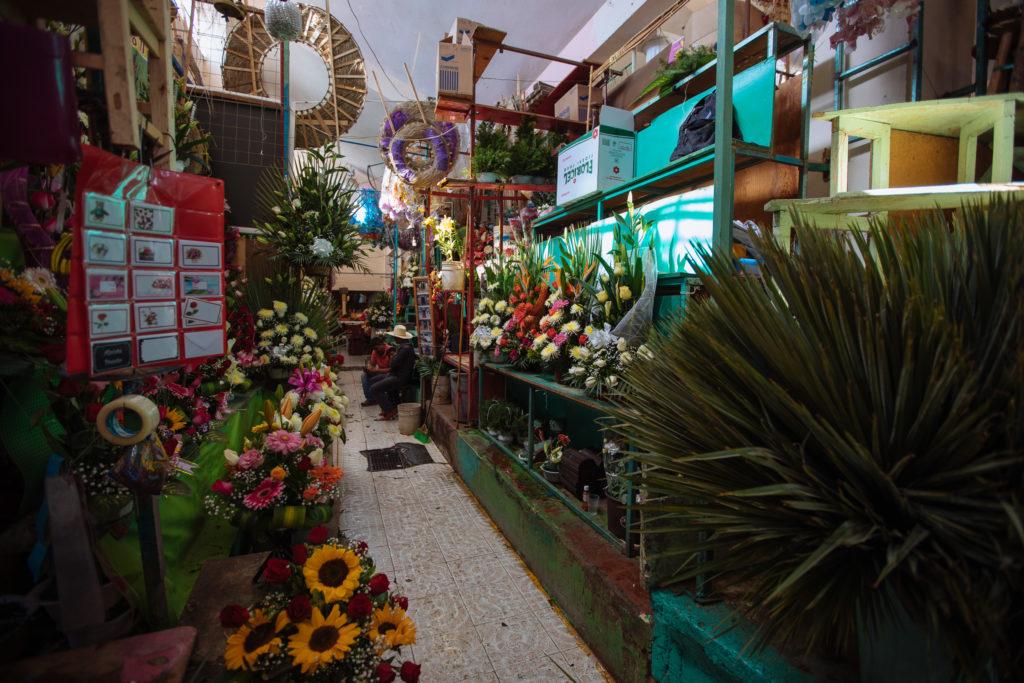 Blumenabteilung im mercado