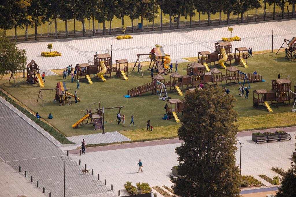 Spielplatz an der Pyramide Cholula