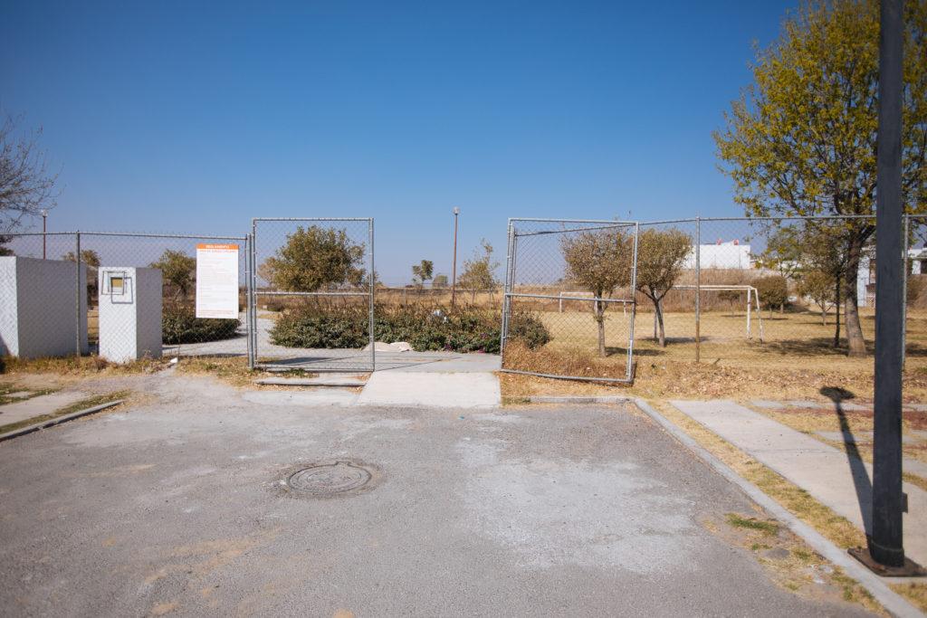 Spielplatzeingang in El Pilar, Cuautlancingo, Puebla