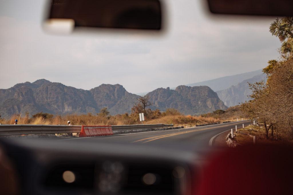 Sandsteingebirge vor Tepoztlán