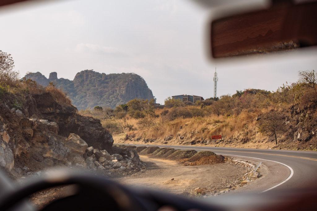 Baustelle an der Straße Richtung Tepoztlán