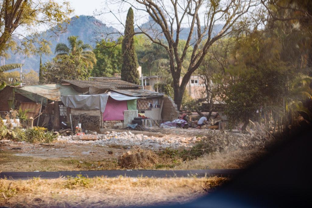 improvisierte Hütte bei Tepoztlán