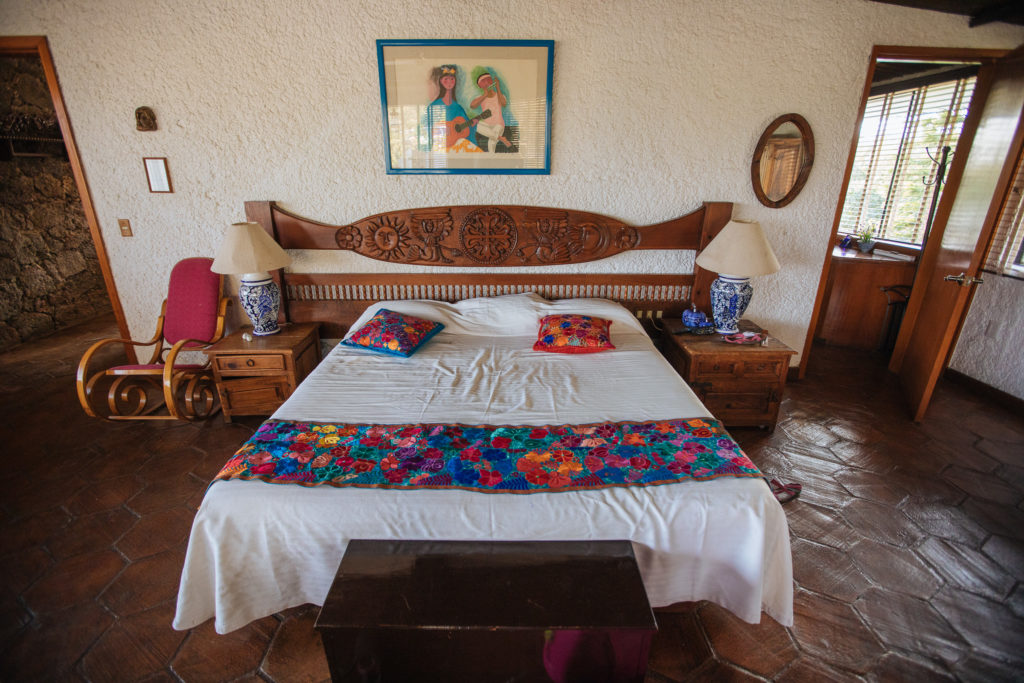 Bett, Master Suite, Finca La Casona, Tepoztlán