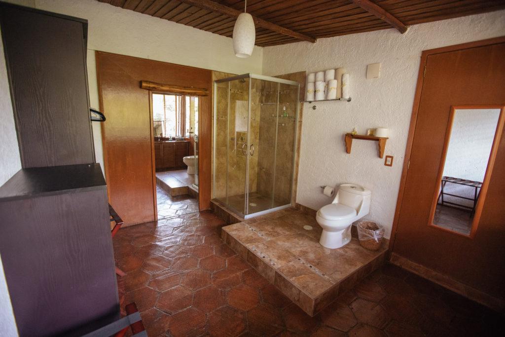 Bad und Toilette, Master Suite, Finca La Casona, Tepoztlán
