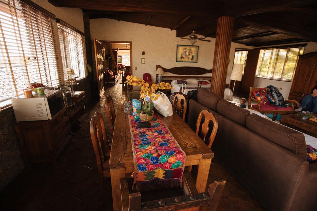 Esstisch in der Master Suite, Finca La Casona, Tepoztlán