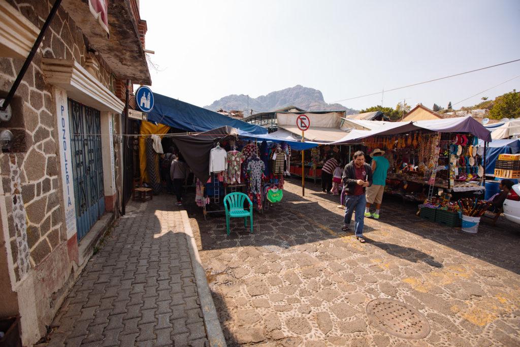 Am Markt in Tepoztlán