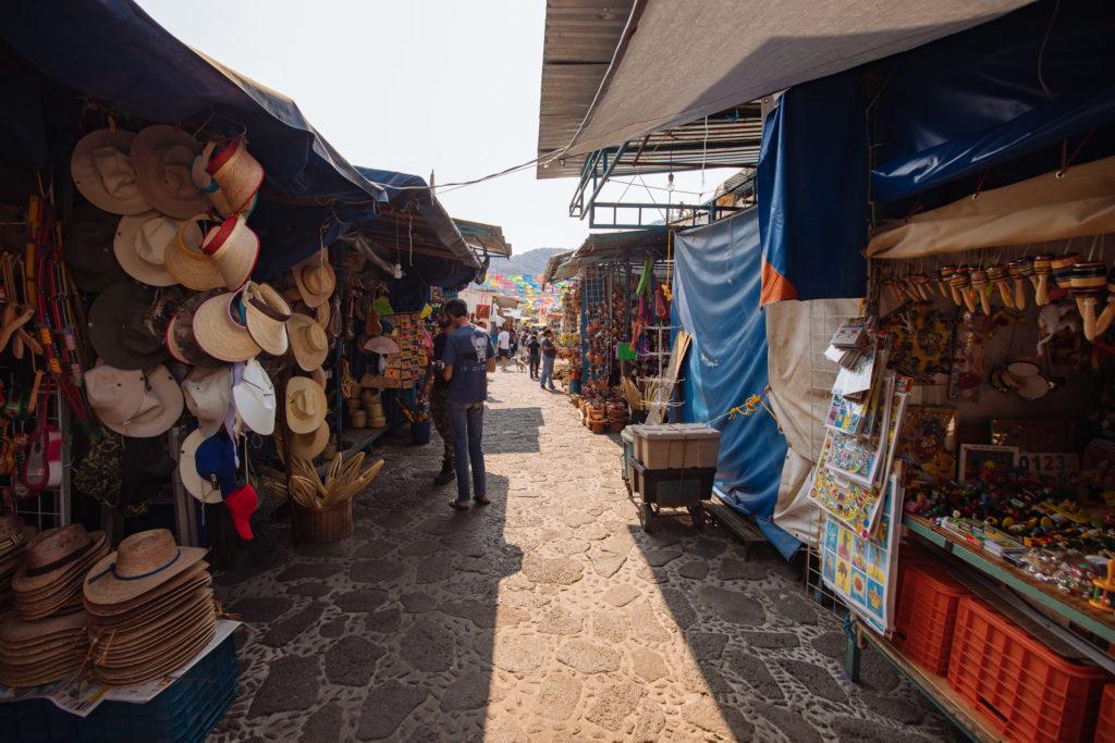 Der offene Teil des Marktes