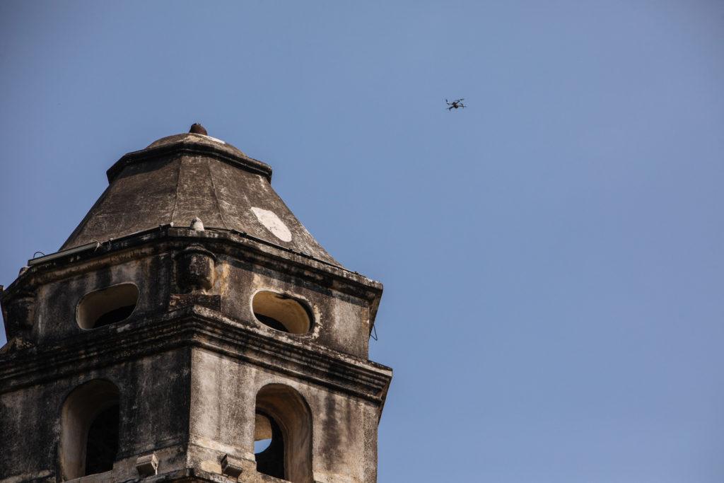 Mavic Pro am Klosterturm Tepoztlán