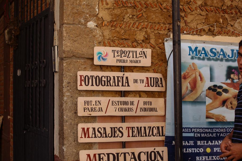 Schild für Aurafotografie