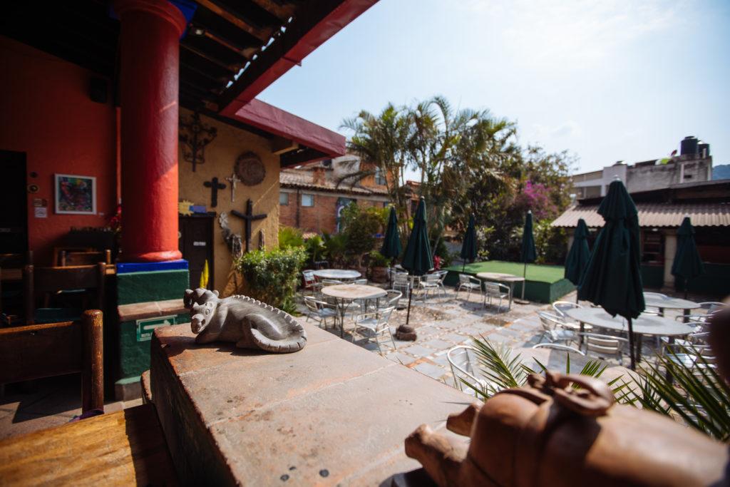 Hof vom Restaurant La Luna Mextli