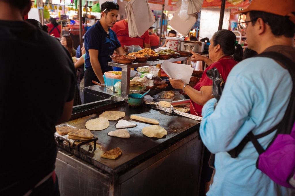 Essensstand auf dem mercado