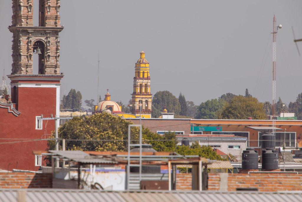 Gelbe Kirche in Cholula