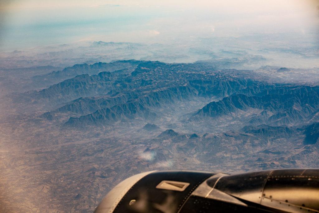 Berge im Norden Pueblas