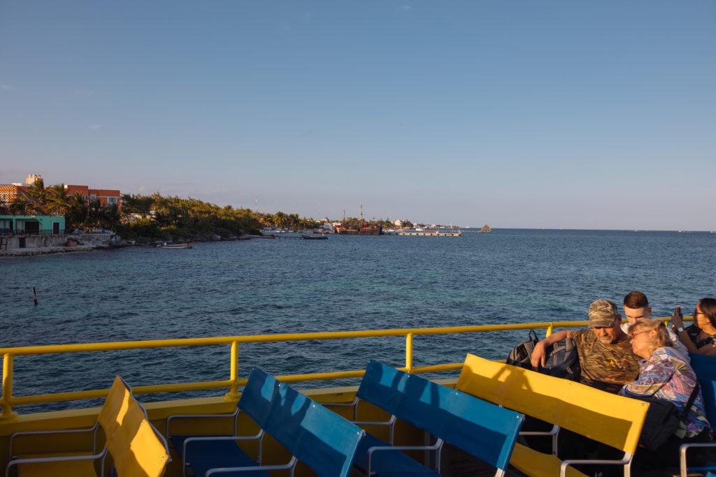 Ablegen vom Hafen in Cancún