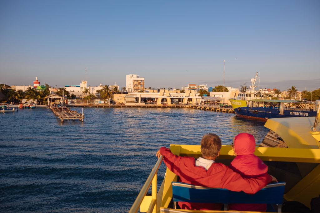 Ankunft am Terminal Maritim Isla Mujeres
