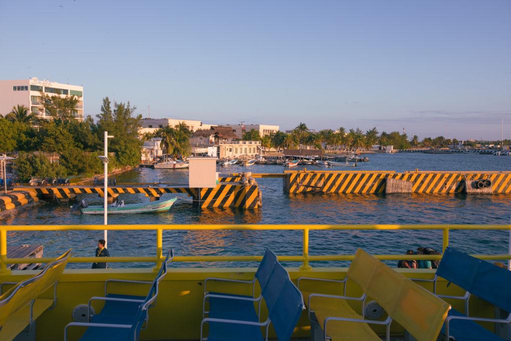 Kai, Boote, Palmen, Isla Mujeres