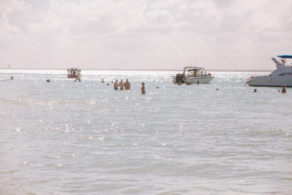 Glitzerndes karibisches Meer