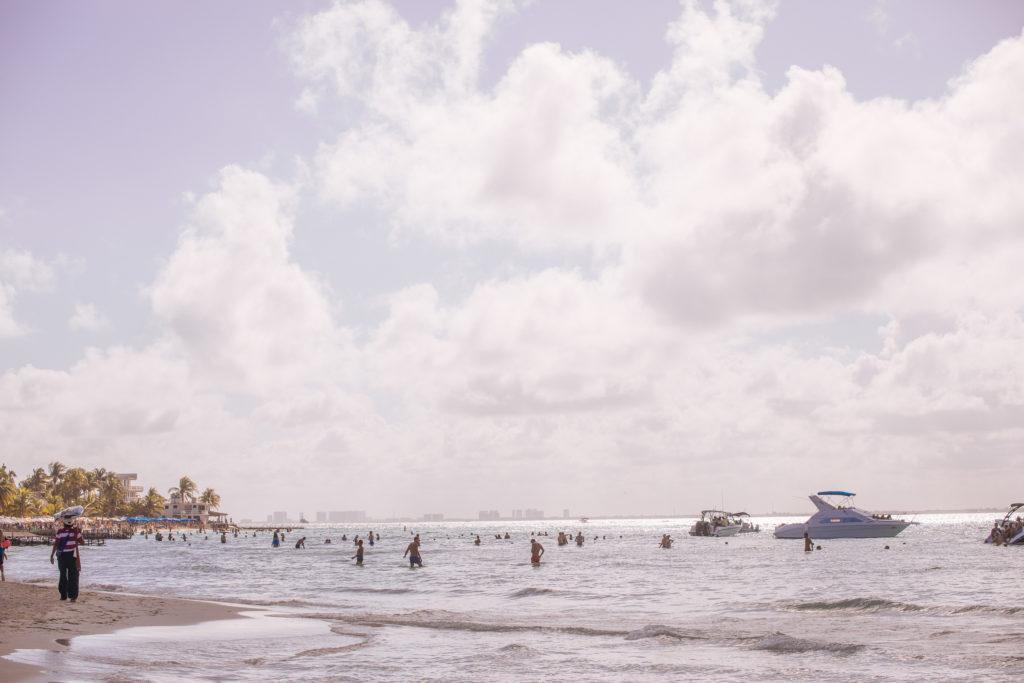 Wolken und Meer auf Isla Mujeres