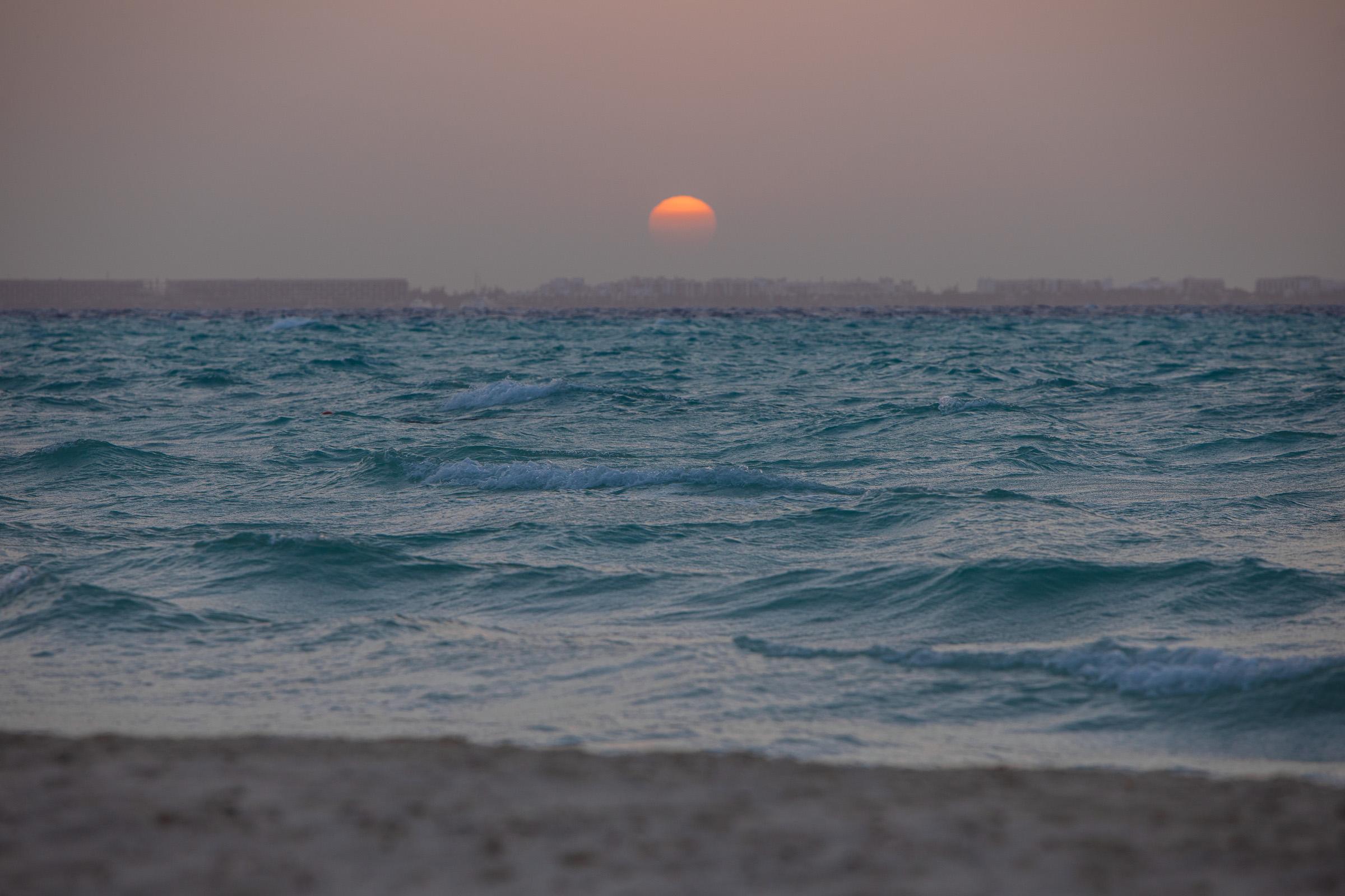 Sonnenuntergang über dem karibischen Meer