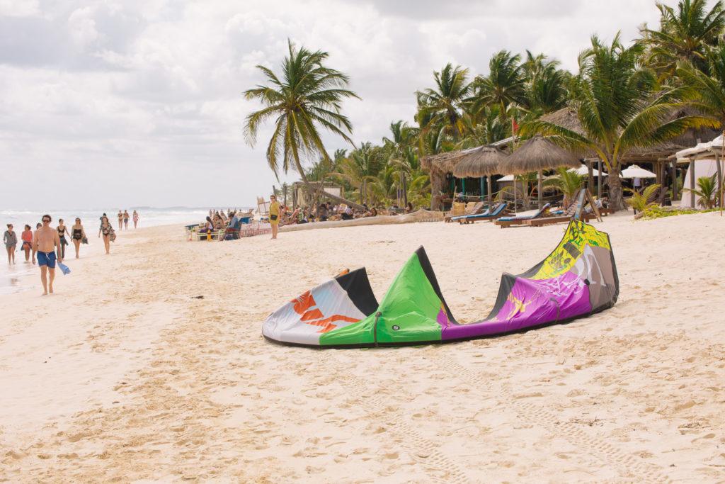 Kite vor der Playa Xcanan