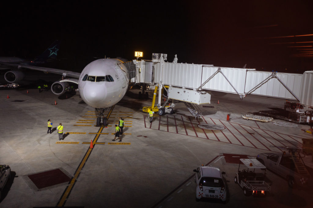 Flieger am aeropuerto Cancun