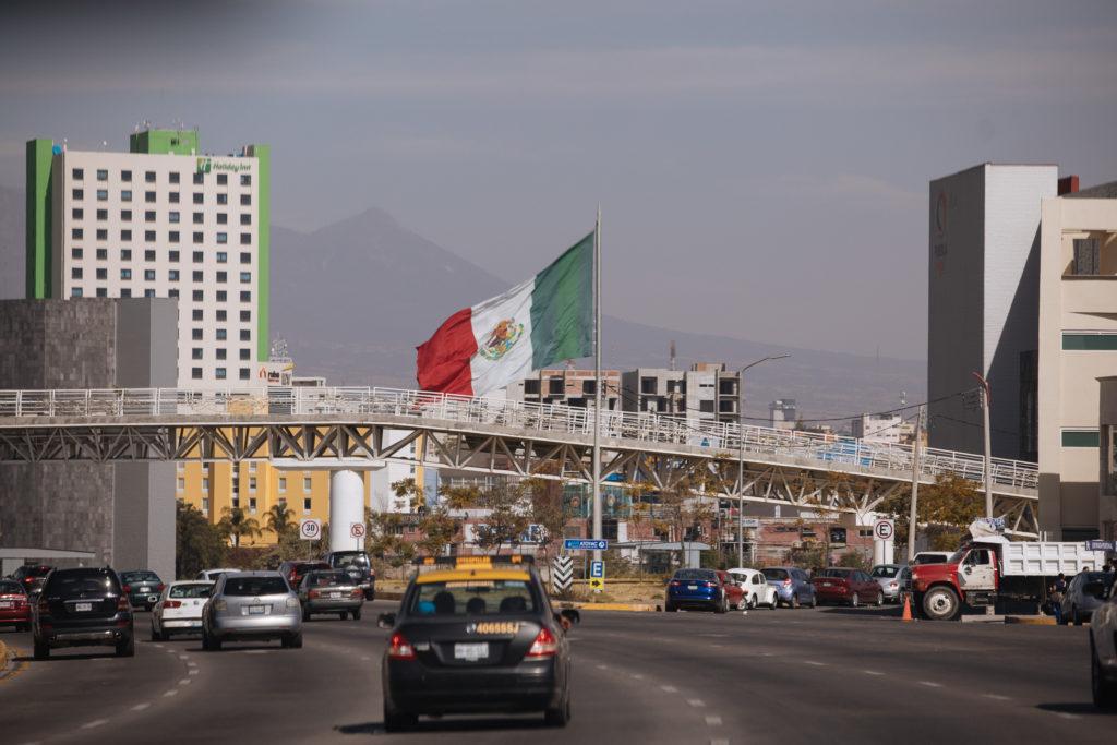 riesige Mexiko-Flagge