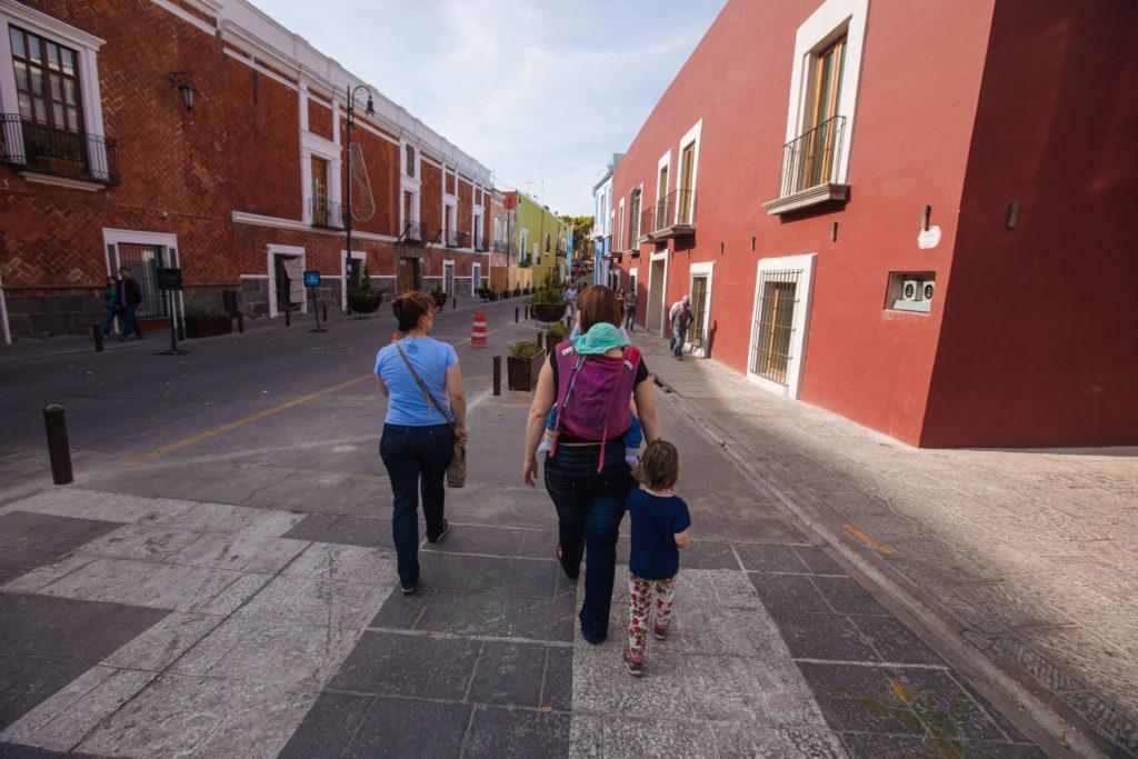 Auf dem Weg Richtung zócalo