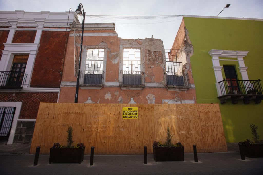 Haus mit Einsturzgefahr in Puebla
