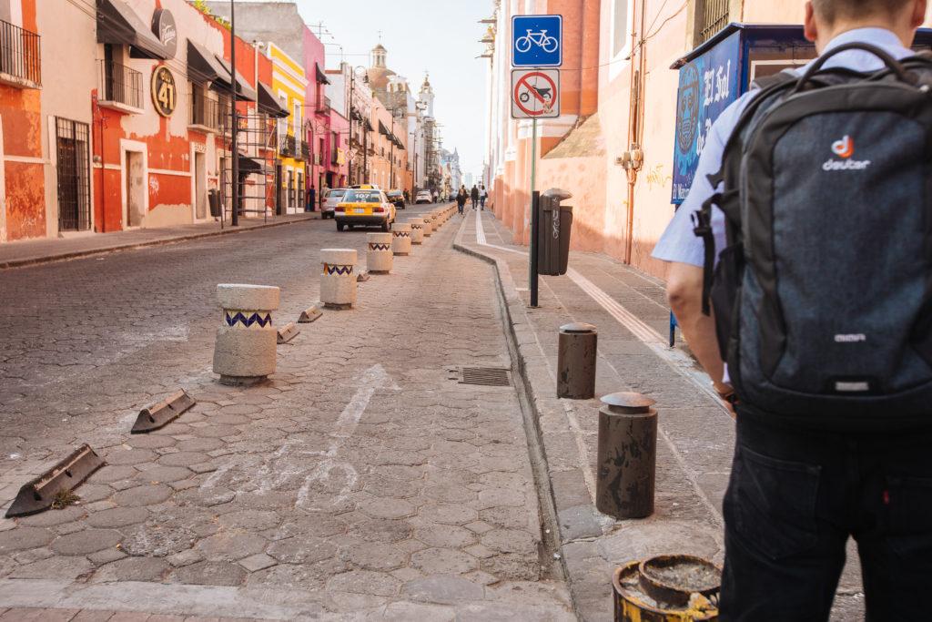 Fahrradweg im Zentrum von Puebla
