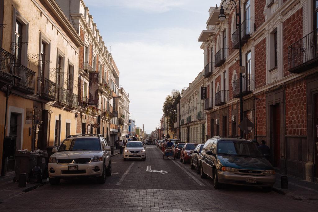 Straßenansicht im Zentrum von Puebla