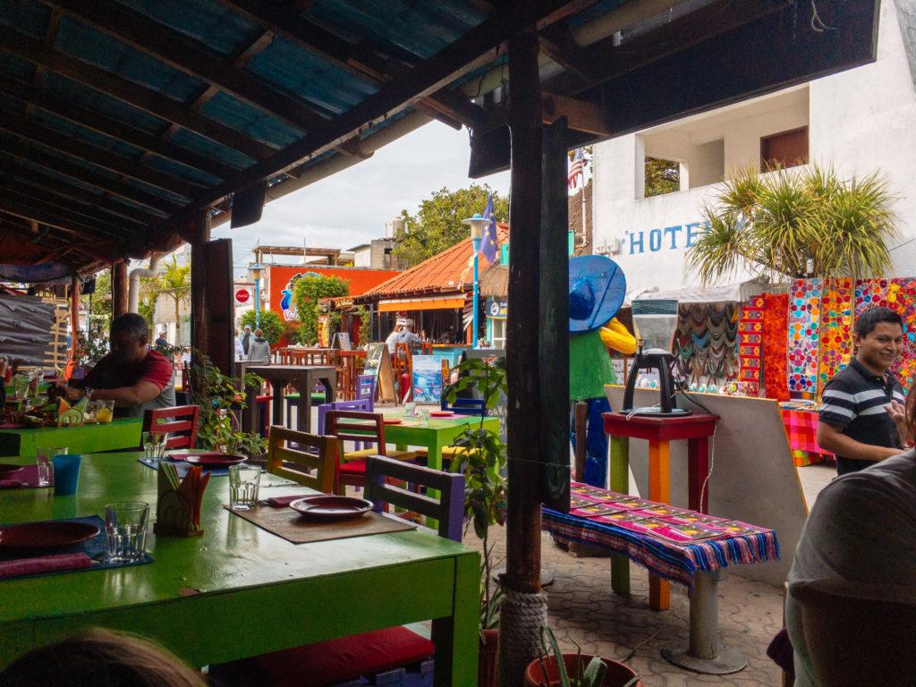 Blick vom Mamacita auf die Straße