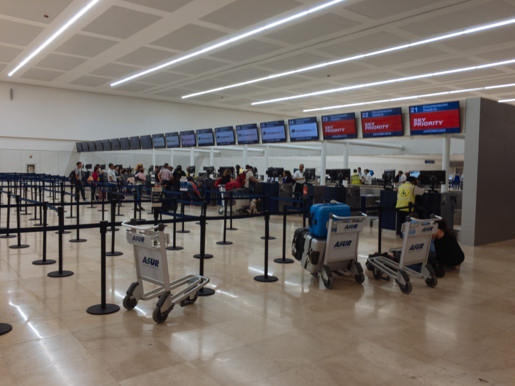 Eingangshalle aeropuerto Cancun