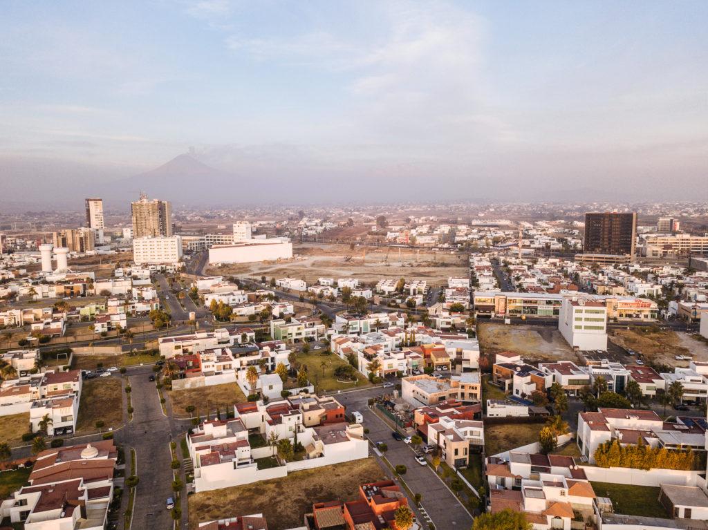 Popocatépetl hinter Puebla