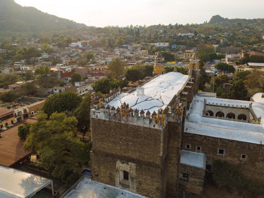 Das Kloster von der Drohne gesehen