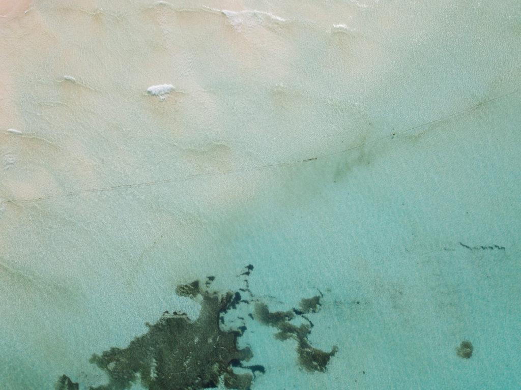Vogelperspektive auf Meer vor der Playa Norte